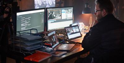 Short film director, Maximilian Nieman, using Artificial Intelligence tools during the creation of Campari Red Diaries 2021: Fellini Forward, a pioneering project set to explore the creative genius of Federico Fellini.